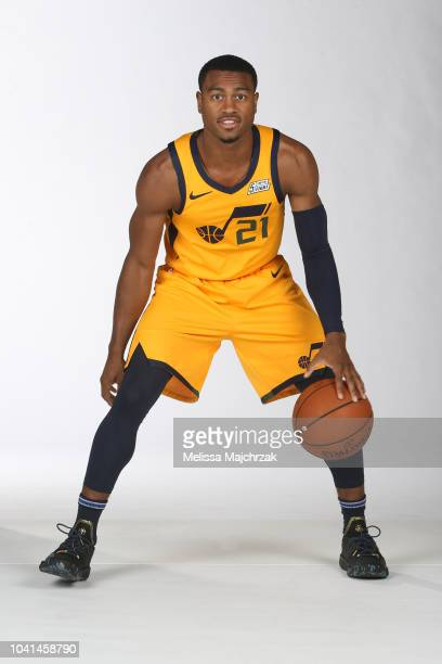 Trey Lewis of the Utah Jazz poses for a portrait at media day on September 24 2018 at the Zions Bank Basketball Campus in Salt Laker City Utah NOTE...