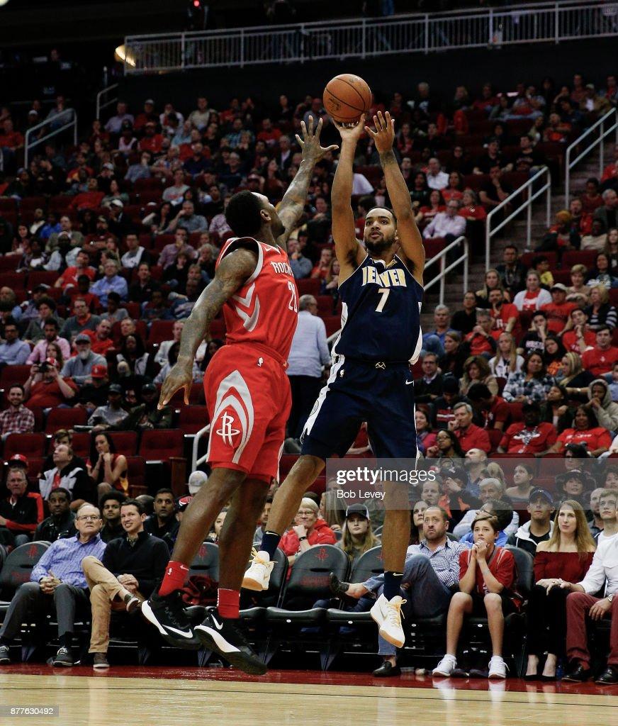 Trey Lyles Of The Denver Nuggets Shoots A Fade Over Tarik
