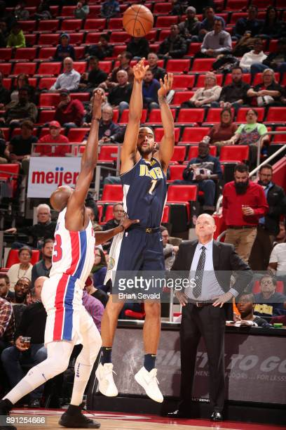 Trey Lyles of the Denver Nuggets shoots the ball against the Detroit Pistons on December 12 2017 at Little Caesars Arena in Detroit Michigan NOTE TO...