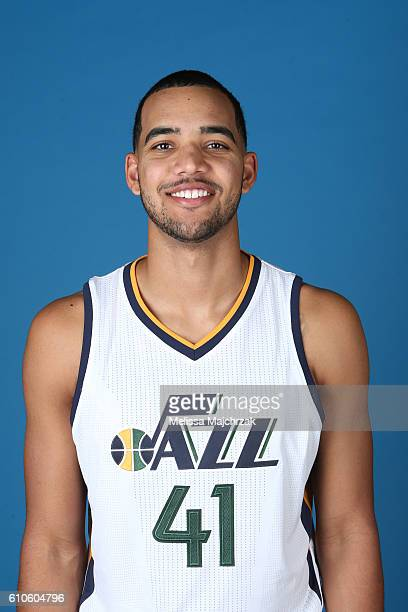 Trey Lyles of the Utah Jazz poses for a headshot during 20162017 Utah Jazz Media Day at Zions Bank Basketball Center on September 26 2016 in Salt...
