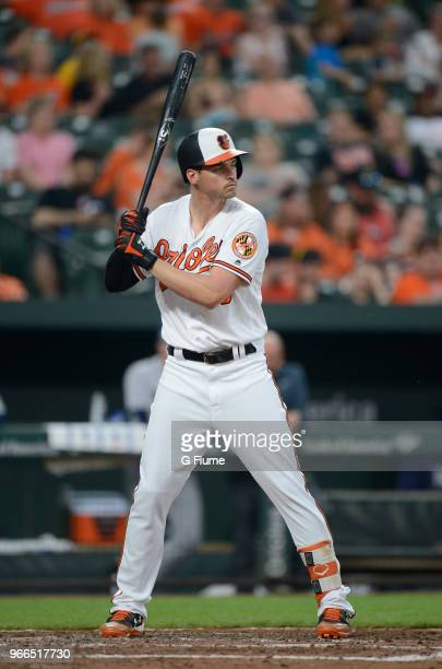 Trey Mancini of the Baltimore Orioles bats against the Tampa Bay Rays during the second game of a doubleheader at Oriole Park at Camden Yards on May...