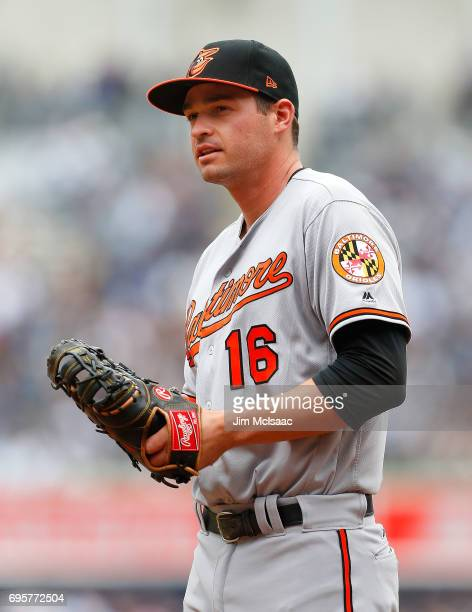 Trey Mancini of the Baltimore Orioles in action against the New York Yankees at Yankee Stadium on April 30 2017 in the Bronx borough of New York City...