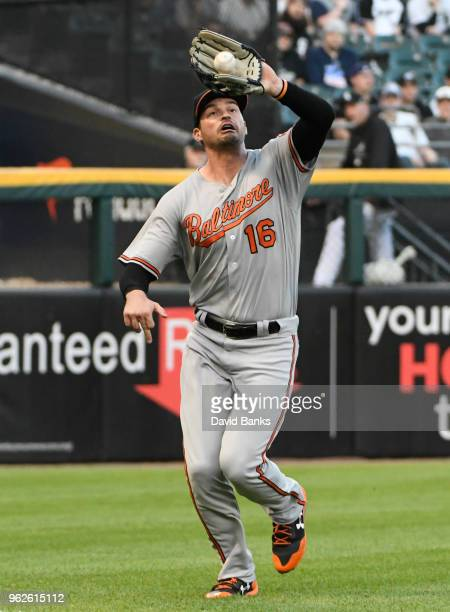 Trey Mancini of the Baltimore Orioles plays against the Chicago White Sox on May 23 2018 at Guaranteed Rate Field in Chicago Illinois Trey Mancini'n