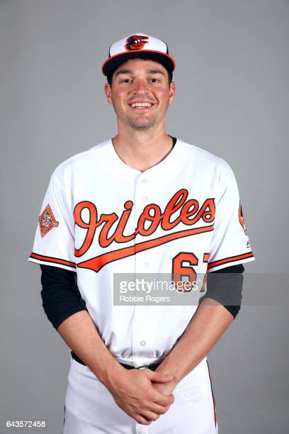 Trey Mancini of the Baltimore Orioles poses during Photo Day on Monday February 20 2017 at Ed Smith Stadium in Sarasota Florida