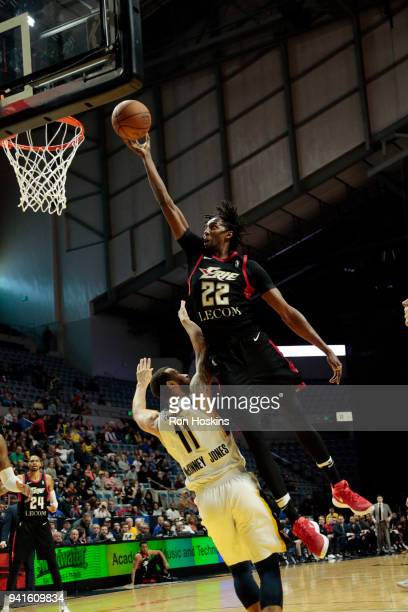 Trey McKinneyJones of the Fort Wayne Mad Ants battles Jeremy Evans of the Erie Bayhawks in the 2018 Eastern Conference semifinals of the NBA G League...