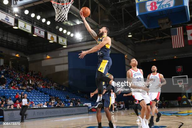 Trey McKinneyJones of the Fort Wayne Mad Ants drives to the basket against the Delaware 87ers during a GLeague at the Bob Carpenter Center in Newark...