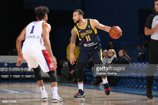 Trey McKinneyJones of the Fort Wayne Mad Ants handles the ball against the Delaware 87ers during a GLeague at the Bob Carpenter Center in Newark...