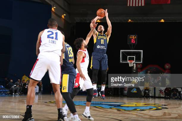 Trey McKinneyJones of the Fort Wayne Mad Ants shoots the ball against the Delaware 87ers during a GLeague at the Bob Carpenter Center in Newark...