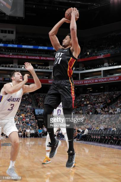 Trey Mourning of Miami Heat shoots the ball against the Los Angeles Lakers on July 1 2019 at the Golden 1 Center in Phoenix Arizona NOTE TO USER User...