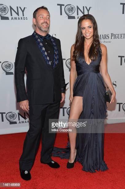 Trey Parker and Boogie Tillmonattend the 66th Annual Tony Awards at The Beacon Theatre on June 10, 2012 in New York City.