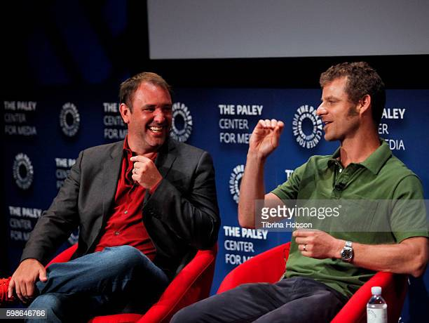 Trey Parker and Matt Stone attend The Paley Center for Media presents special retrospective event honoring 20 seasons of 'South Park' at The Paley...