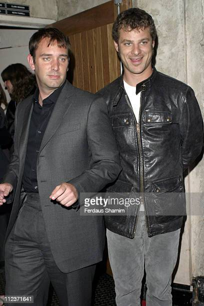 Trey Parker and Matt Stone during 'Team America World Police' London DVD Launch at CC Club in London Great Britain