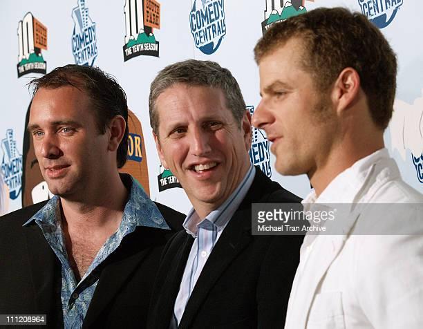 Trey Parker Doug Herzog President of Comedy Central and Matt Stone