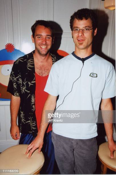 Trey Parker Matt Stone during Comedy Central South Park press conference at Shutters in Santa Monica California United States