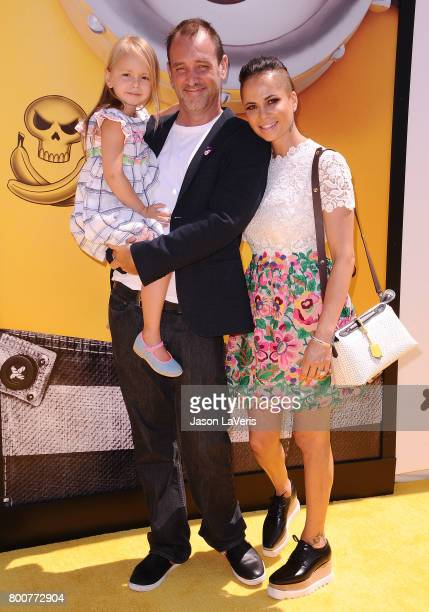 """Trey Parker, wife Boogie Tillmon and daughter Betty Parker attend the premiere of """"Despicable Me 3"""" at The Shrine Auditorium on June 24, 2017 in Los..."""