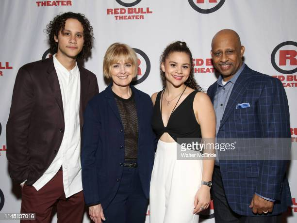 Trey Santiago Jeannie Santiago Lily Santiago and Ruben SantiagoHudson attend the Opening Night Party for Red Bull Theater's AllFemale Macbeth at...