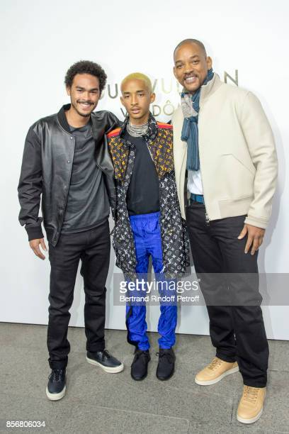 Trey Smith Jaden Smith and Will Smith attend the Opening Of The Louis Vuitton Boutique as part of the Paris Fashion Week Womenswear Spring/Summer...