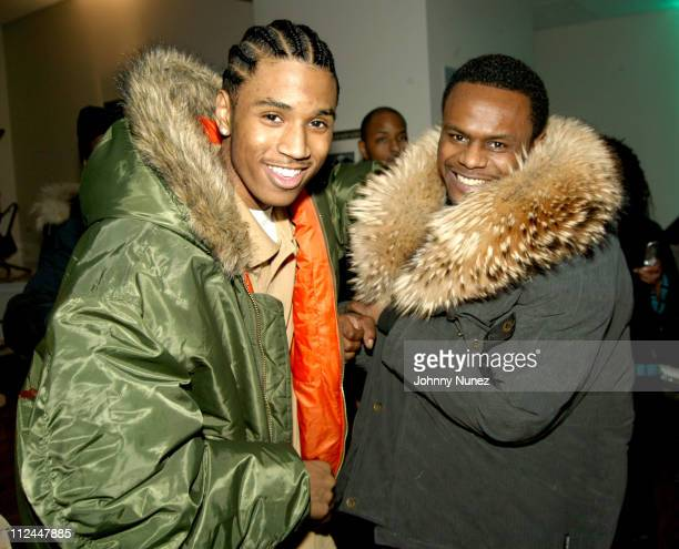 Trey Songz and Carl Thomas during Groovevoltcom and Atlantic Records Presents Tweet at The Hit Factory in New York City New York United States