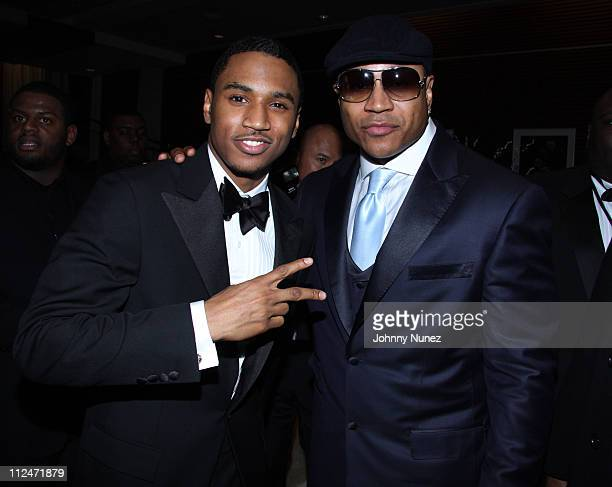 Trey Songz and LL Cool J attend the Hip Hop Summit Action Network Inaugural Ball at the Harman Center for the Arts on January 19 2009 in Washington DC
