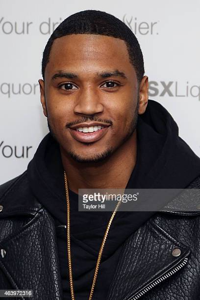 Trey Songz attends the launch of SX Liquors at Langham Hotel on February 20 2015 in New York City