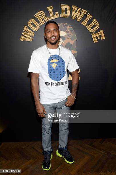 Trey Songz attends the MCM x Bape VIP Collection Launch at No Name on October 24, 2019 in Los Angeles, California.
