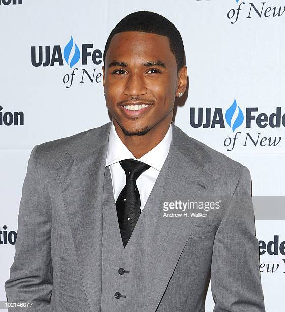Trey Songz attends the UJAFederation's 2010 Music Visionary of the Year award luncheon at The Pierre Ballroom on June 16 2010 in New York City