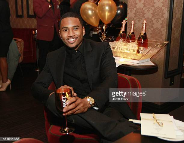 Trey Songz attends Trey Songz and Fabolous' birthday dinner at Cherry on November 22 2013 in New York City