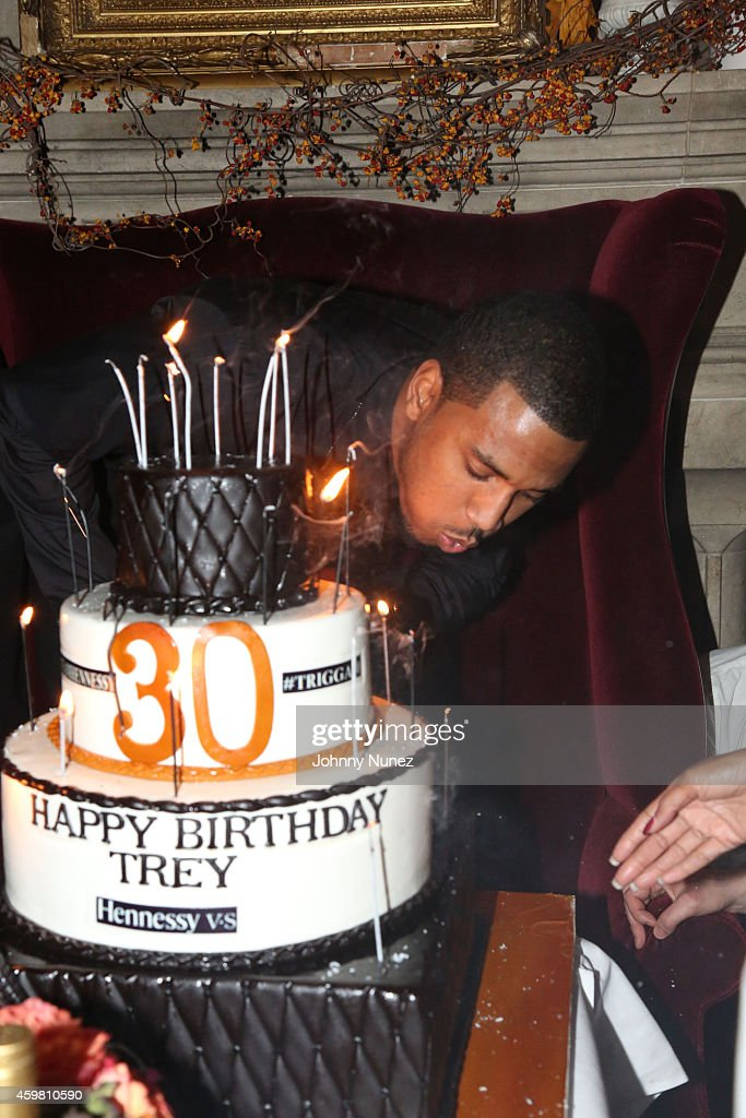 Trey Songz celebrates his 30th Birthday at The Lion on December 1, 2014 in New York City.