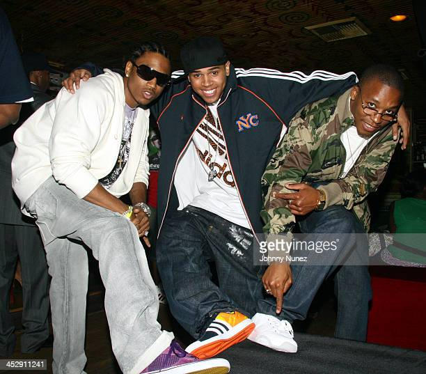 Trey Songz Chris Brown and Lupe Fiasco during TI in Concert at The House of Blues Los Angeles June 27 2006 at House of Blues Los Angeles in Los...