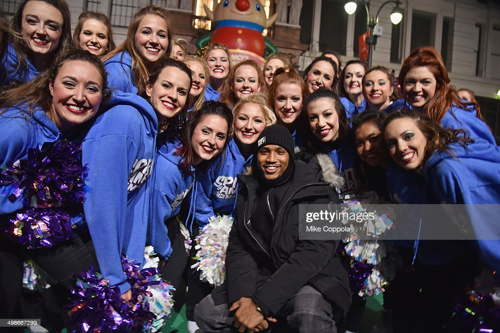 Trey Songz performs at the 89th Annual Macy's Thanksgiving Day Parade Rehearsals - Day 2 on November 24, 2015 in New York City.