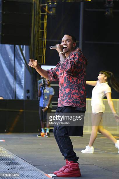Trey Songz performs in concert at the 2015 Hot 97 Summer Jam concert at MetLife Stadium on June 7 2015 in East Rutherford New Jersey