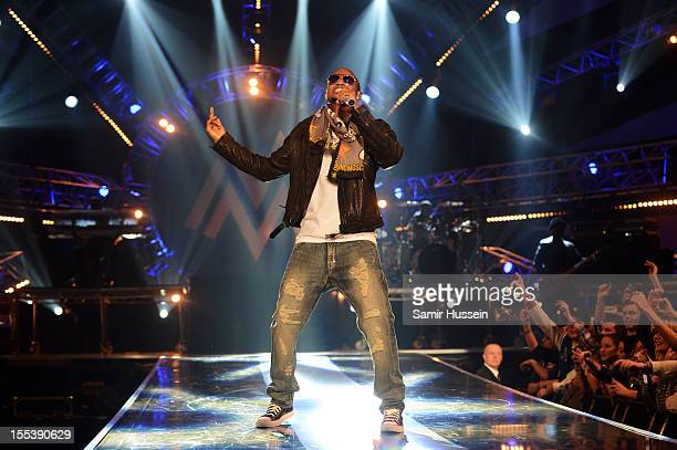 Trey Songz performs onstage at the 2012 MOBO awards at Echo Arena on November 3 2012 in Liverpool England