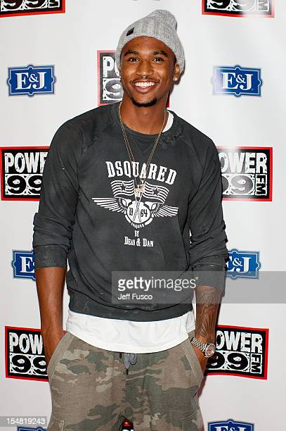 Trey Songz poses at the Power 99 Powerhouse concert at the Wells Fargo Center on October 26 2012 in Philadelphia Pennsylvania