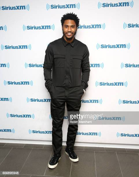 Trey Songz visits at SiriusXM Studios on March 23 2017 in New York City