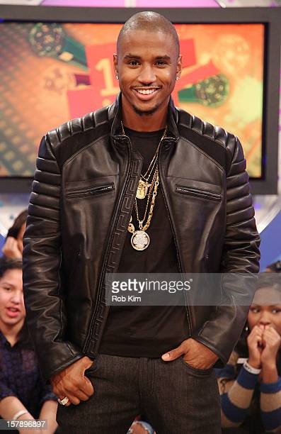 Trey Songz visits BET's 106 Park at BET Studios on December 6 2012 in New York City