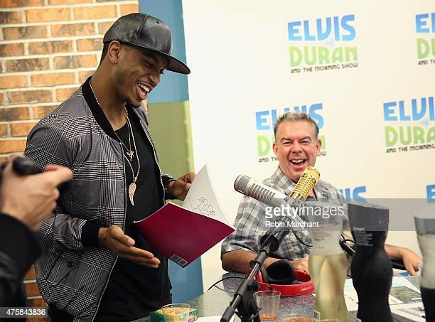 Trey Songz visits 'The Elvis Duran Z100 Morning Show' with host Elvis Duran at Z100 Studio on June 4 2015 in New York City