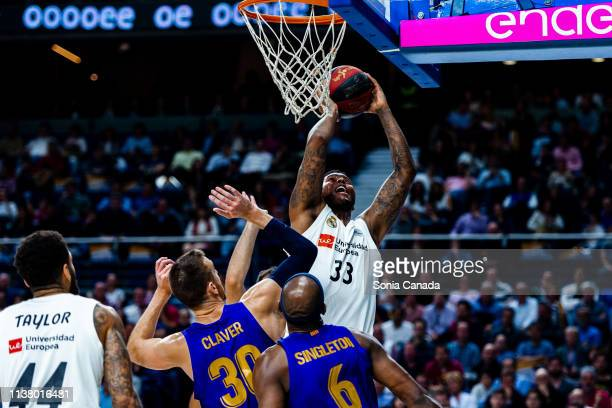 Trey Thompkins during the Liga Endesa match between Real Madrid and FC Barcelona Lassa at Wizink Center on March 24 2019 in Madrid Spain
