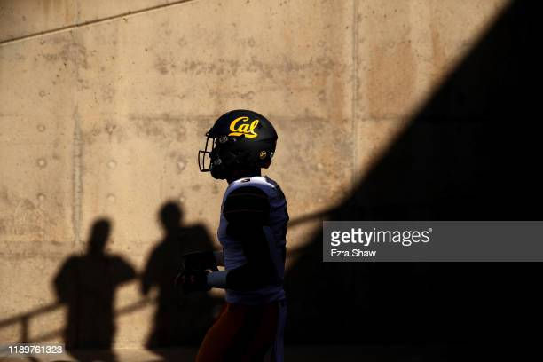 Trey Turner III of the California Golden Bears walks out of the tunnel for their game against the Stanford Cardinal at Stanford Stadium on November...