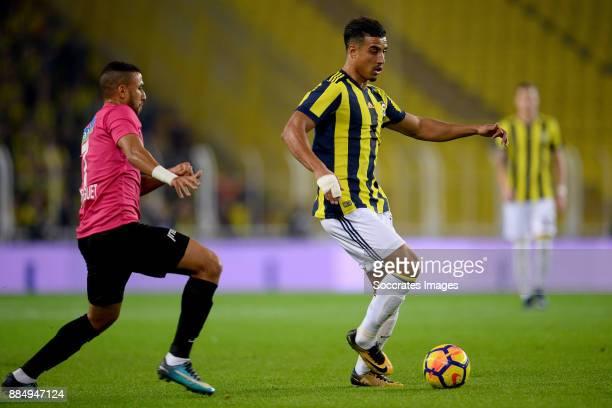 Trezeguet of Kasimpasa Nabil Dirar of Fenerbahce during the Turkish Super lig match between Fenerbahce v Kasmpasaspor at the #350ükrü Saraco#287lu...