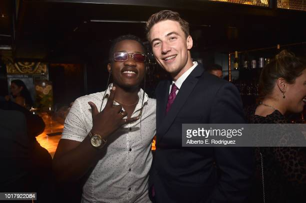 Trezzo Mahoro and Jordan Burtkett attend the after party for a screening of Netflix's 'To All The Boys I've Loved Before' on August 16 2018 in Culver...