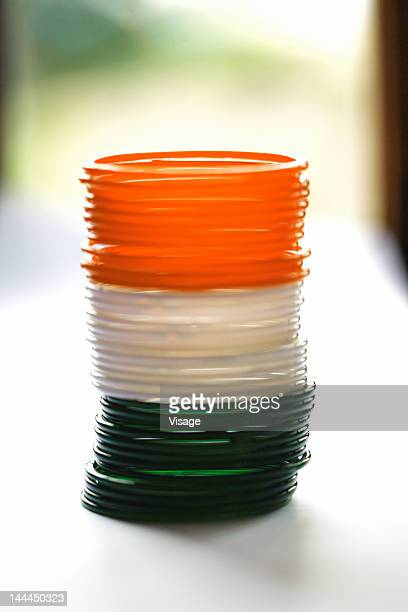 Tri coloured bangles