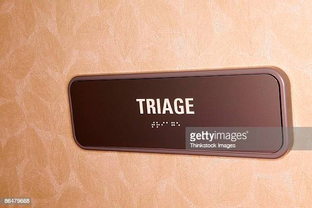 Triage sign