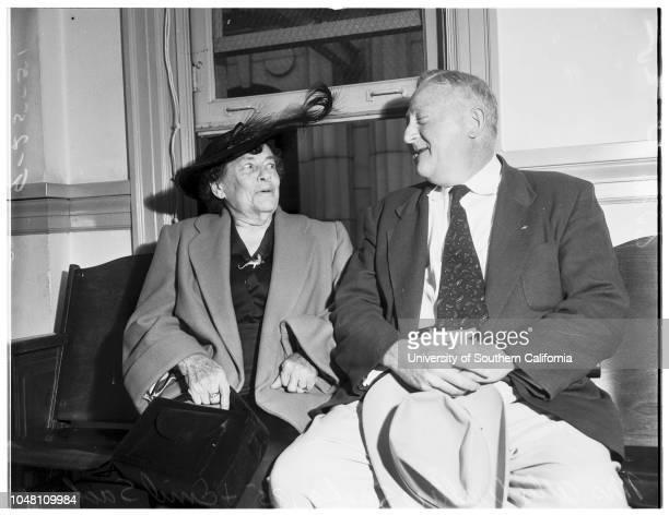 Trial 25 September 1951 Mrs Allie Walters Sacks 85 yearsMr Emil Sacks