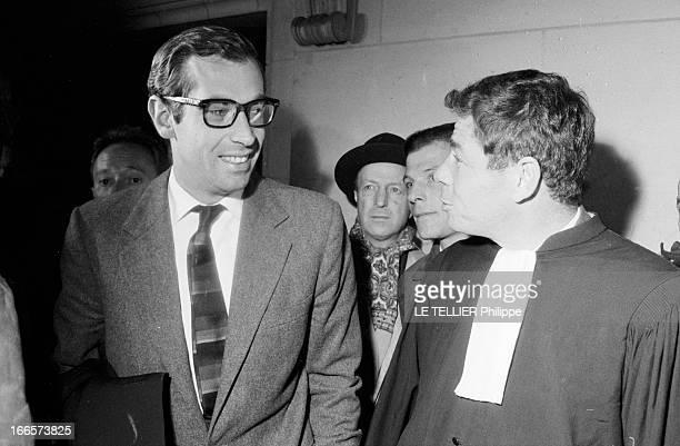Trial Christian Vadim / Francois Truffaut Regarding The Film 'La Bride Sur Le Cou' France le 29 janvier 1962 le réalisateur français Christian VADIM...