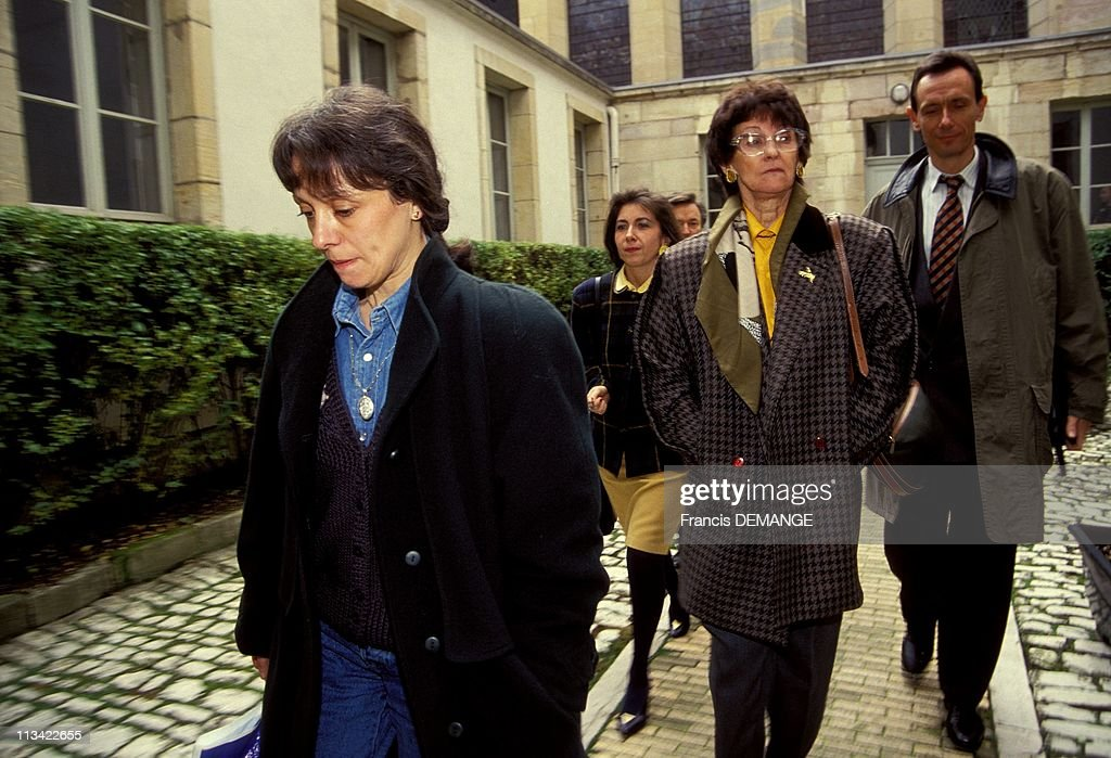 Trial Of Jean-Marie Villemin A Dijon On November 12th,1993 : News Photo