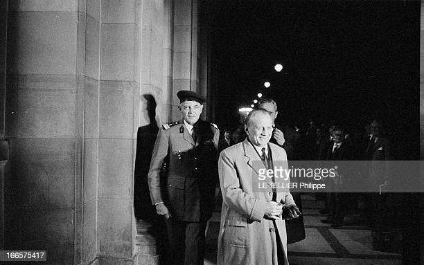Trial Of Maurice Challe And Andre Zeller Members Of The Putsch Of The Generals Known As Algiers' Putsch A Paris au palais de justice lors du procès...
