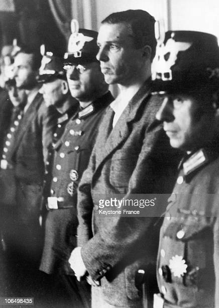 Trial Of Officer Von Stauffenberg Brother Of The Author Of The Attack On Hitler 1944