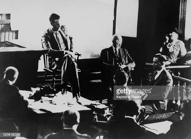 Trial Of The Lindbergh Baby S Kidnapper, Bruno Hauptmann In New Jersey On July 1932