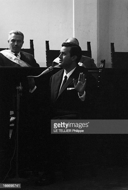 Trial Of The Mafia Les 8 novembre 1967 dans la salle de gymnastique d'une école à Catanzaro en Calabre en Italie cent huit siciliens appartenant à...