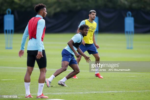 Trialist Kyle Edwards of Bournemouth during a pre-season training session at Vitality stadium on August 03, 2021 in Bournemouth, England.